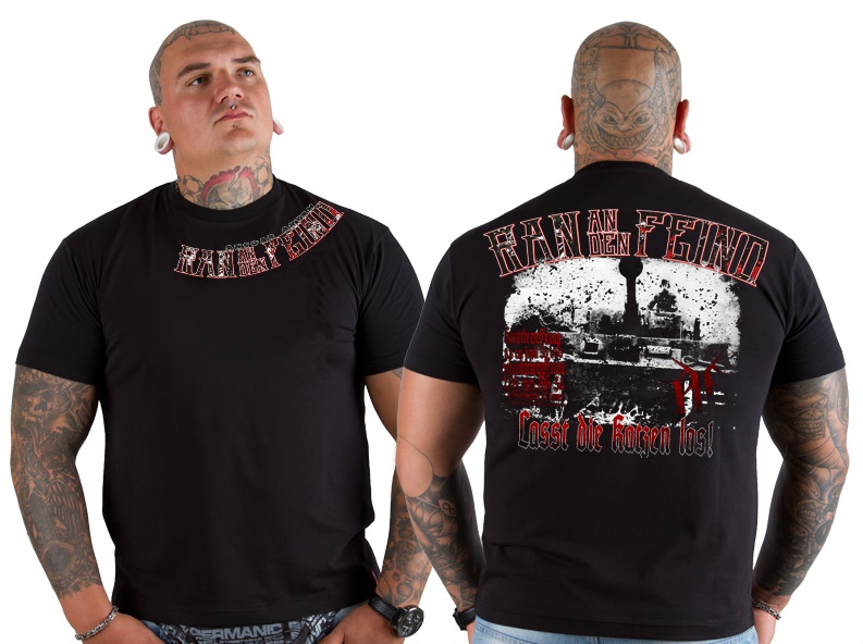 Ansgar Aryan T-Shirt Tiger Attack