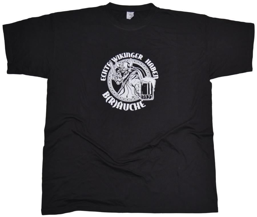 T-Shirt Echte Wikinger haben B(r)�uche