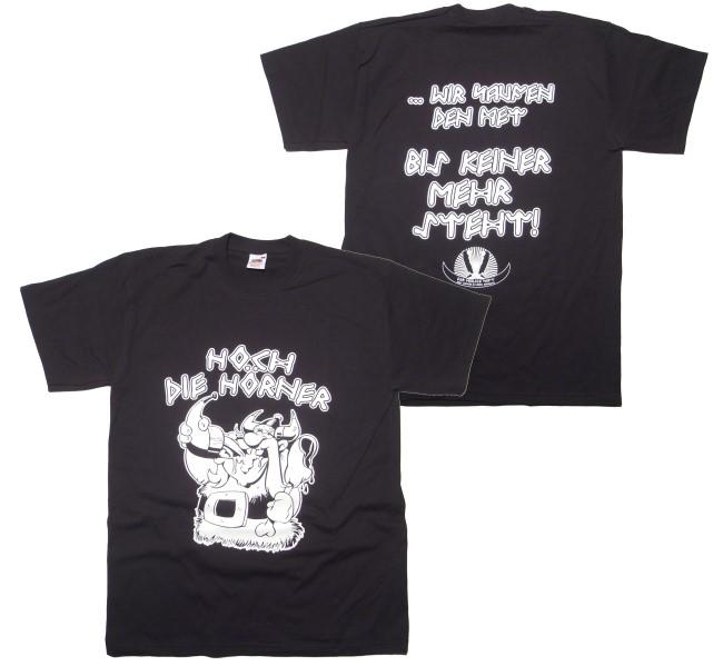 T-Shirt Hoch die Hörner