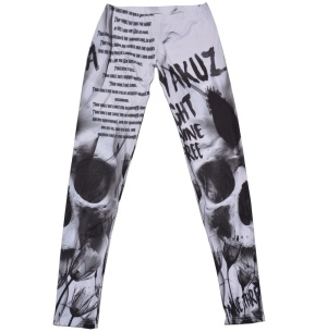 Yakuza Damen Leggings Commandments LEB9146