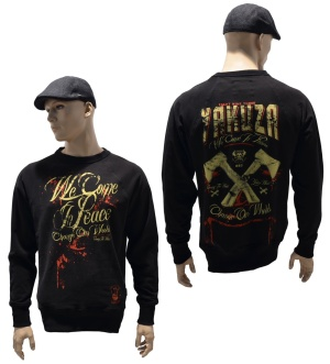 Yakuza Ink Sweatshirt We Come In Peace