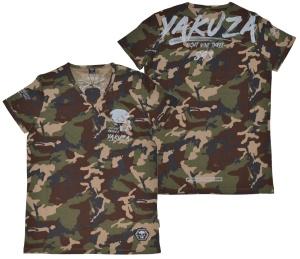Yakuza Ink T-Shirt Script Skull camoflage