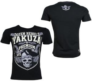 Yakuza Premium T-Shirt Skull Wappen YPS2419