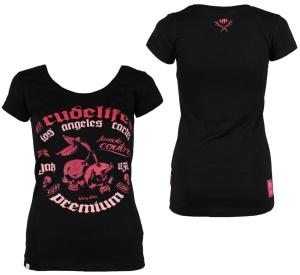 Yakuza Premium Damen T-Shirt Skull Kirschen GS2337