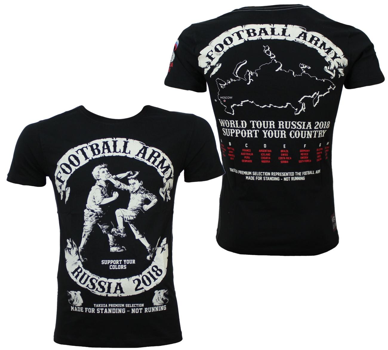 Yakuza Premium T-Shirt WM Football Army Russia